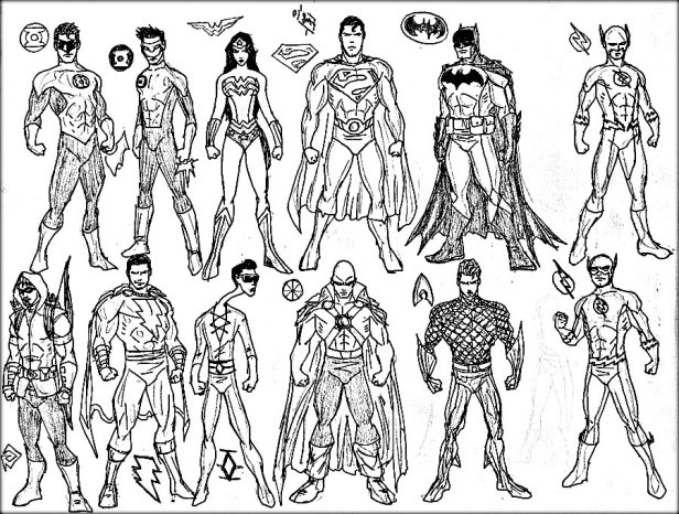 Printable Superhero Colouring Pictures Free For Adults